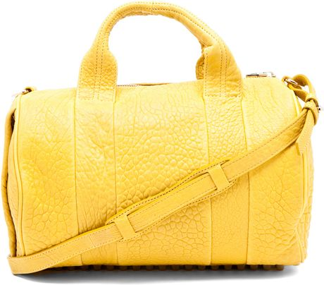 Alexander Wang Rocco Satchel in Citrus in Yellow (citrus) - Lyst