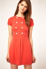 ASOS Collection Asos Knitted Dress with Button Detail - Lyst
