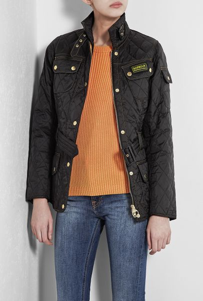 Barbour Black International Quilted Jacket in Black - Lyst
