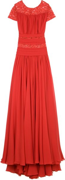 Eastland Lace Insert Gown in Red - Lyst