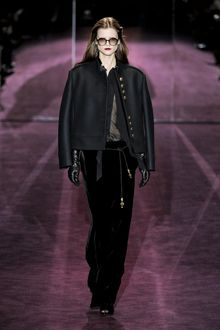 Gucci Fall 2012 Pleated Front Blouse  - Lyst