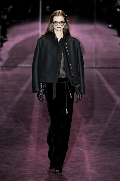 Gucci Fall 2012 Velvet Maxi Skirt  in Black - Lyst
