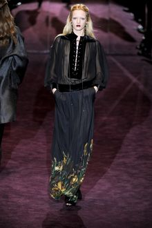 Gucci Fall 2012 Printed Hem Maxi Skirt  - Lyst