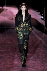 Gucci Fall 2012 Floral Print Wide-Leg Pants In Green And Brown  - Lyst