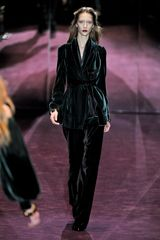Gucci Fall 2012 Velvet Wide Leg Pants  - Lyst