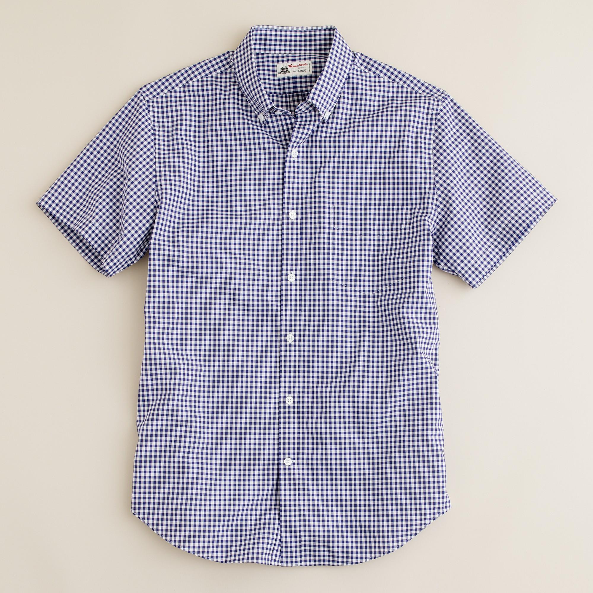 Thomas Mason Short Sleeve Ludlow Shirt In Navy