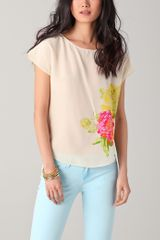 Juicy Couture Silk Floral Tee - Lyst