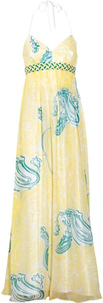 Laundry By Shelli Segal Floralprint Silk Maxi Dress in Yellow - Lyst