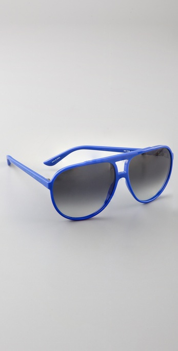 Marc Jacobs Oversized Aviator Sunglasses  marc by marc jacobs oversized plastic aviator sunglasses in blue