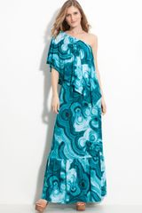 Michael by Michael Kors One Shoulder Maxi Dress - Lyst