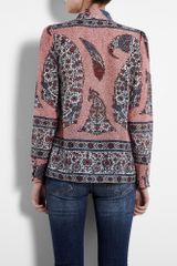 Paul & Joe Sister Printed Blouse in Pink (red) - Lyst