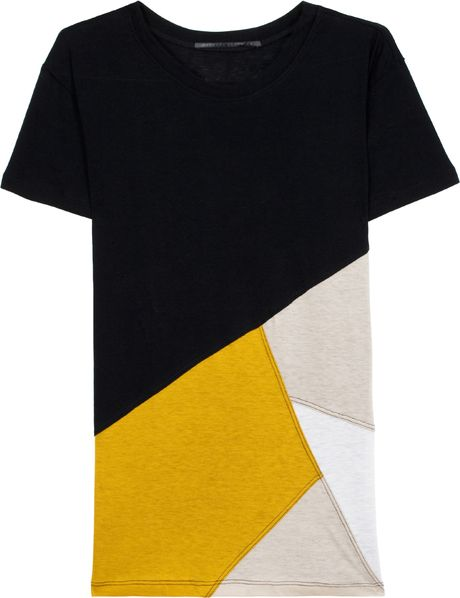Proenza Schouler Patchwork Tee in Multicolor (ruby) - Lyst