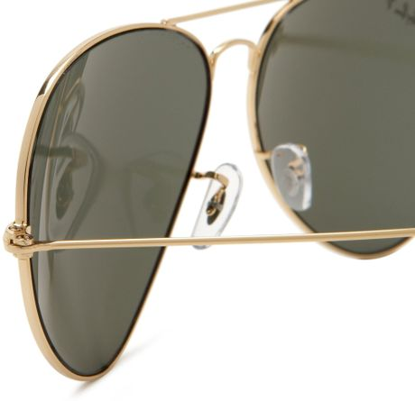 Ray-ban Ray-ban Aviator Polarized Sunglasses in Gold for ...
