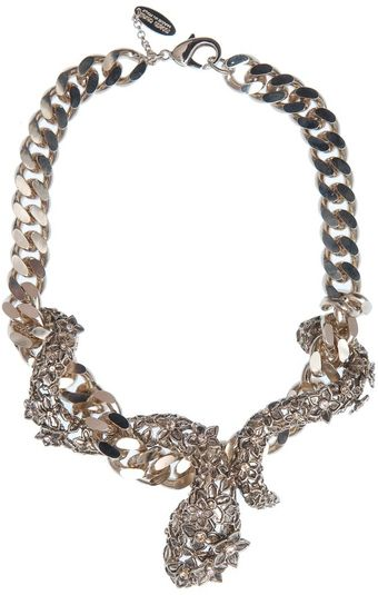 Roberto Cavalli Flower and Snake Necklace - Lyst