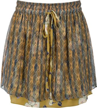 Suno Orchid Stripes Skirt - Lyst