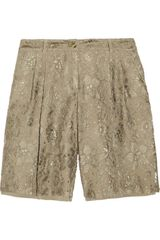 Dolce & Gabbana Lace and Crepe Shorts - Lyst