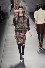 Fendi Fall 2012 Patchwork Wool Skirt  - Lyst