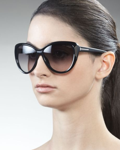 tom ford malin cat eye sunglasses black in black one size lyst. Cars Review. Best American Auto & Cars Review
