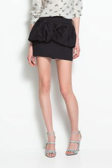 Zara Skirt with Mini Frill - Lyst