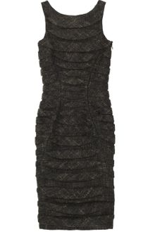 Jil Sander Paneled Textured Tweed Dress - Lyst
