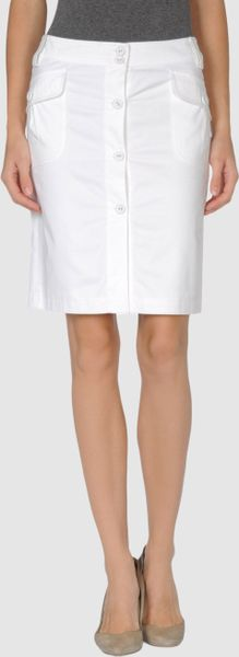 Maje Knee Length Skirt in White - Lyst