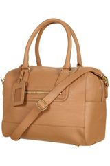 Topshop Bowling Bag in Brown (tan) - Lyst