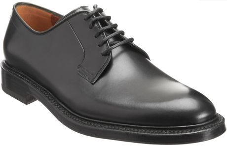 Battistoni Plain Toe Blucher in Black for Men - Lyst
