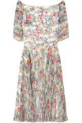 Erdem Anoushka Printed Chiffon Dress - Lyst