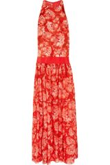 Giambattista Valli Silk-faille and Silk-chiffon Gown - Lyst