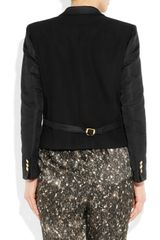 Gucci Silkfaille Ottoman Jacket in Black - Lyst
