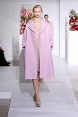 Jil Sander Fall 2012 Pale Pink Deep Decolletage Knee Length Dres