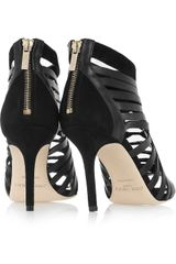 Jimmy Choo Mandy Leather Cage Sandals in Black - Lyst