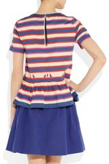 Marc By Marc Jacobs Flavin Striped Stretchcotton Top in Blue (multicolored) - Lyst