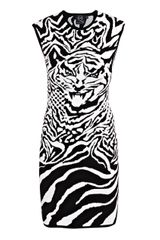 McQ by Alexander McQueen Tiger-print Dress - Lyst