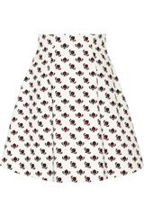 Miu Miu Printed Cotton A-line Skirt - Lyst