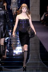 Versace Fall 2012 Knee Length Pencil Skirt In Black  - Lyst