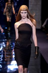 Versace Fall 2012 Strapless Armorlike Corset Knee Length Pencil Dress With 3D Details In Black  - Lyst