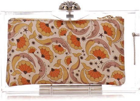 Charlotte Olympia Pandora Perspex Clutch Bag in Transparent - Lyst