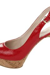 Nine West Nine West Womens Bigspender Slingback Sandal in Red (red patent synthetic) - Lyst