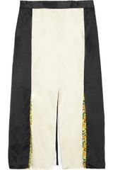 Stella McCartney Kuko Pleated Silk Skirt - Lyst