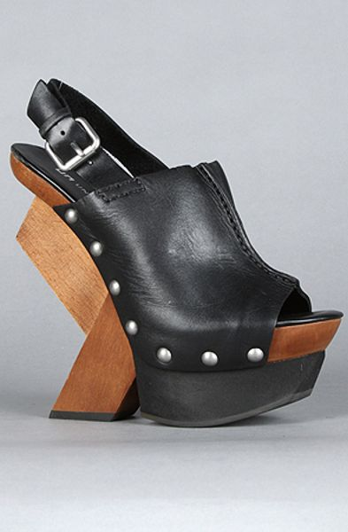 United Nude The Abstract Clog Hi Shoe In Black In Black Lyst