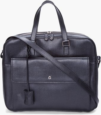 Yves Saint Laurent Black Ycone Laptop Bag - Lyst