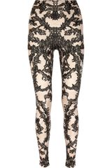 Alexander McQueen Lace-print Stretch Leggings