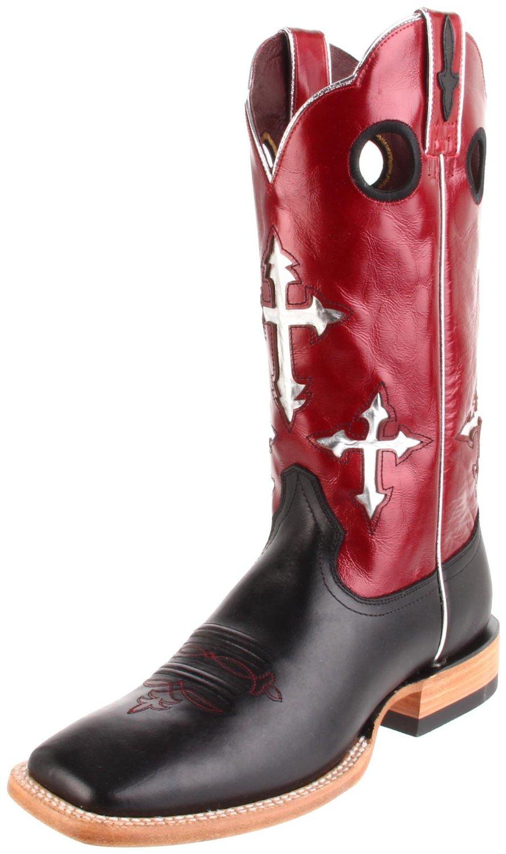 Ariat Mens Ranchero Pull On Boot In Red For Men Black