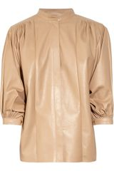 Chloé Leather Trapeze Jacket