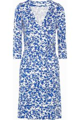 Diane Von Furstenberg Julian Printed Silk-jersey Wrap Dress - Lyst
