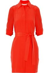 Diane Von Furstenberg Penny Mini Silk Crepe De Chine Dress - Lyst