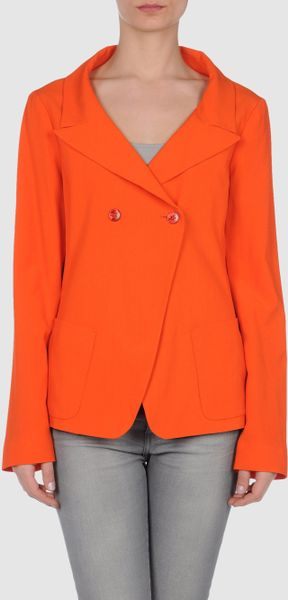 Jil Sander Blazer in Orange (blue) - Lyst