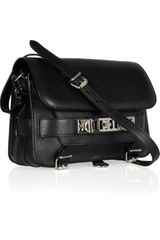 Proenza Schouler Classic Texturedleather Shoulder Bag in Black - Lyst