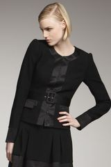 Rachel Zoe Cila Belted Jacket in Black - Lyst